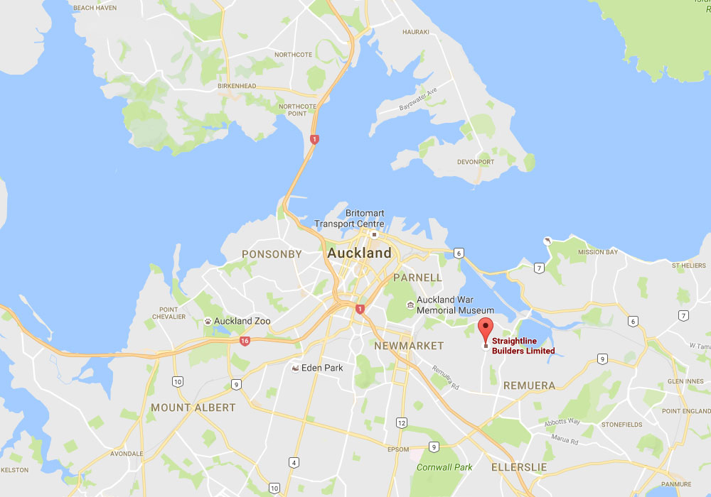 map of Auckland Builders
