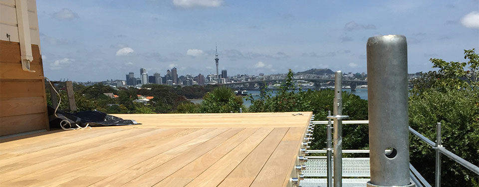 New deck built for home in Auckland